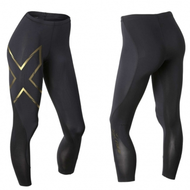 2XU Elite MCS Compression Tights dames zwart/goud WA3063b