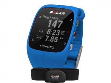 Polar M400 HRM sporthorloge met GPS blauw