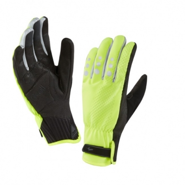SealSkinz All Weather Cycle XP handschoen geel zwart