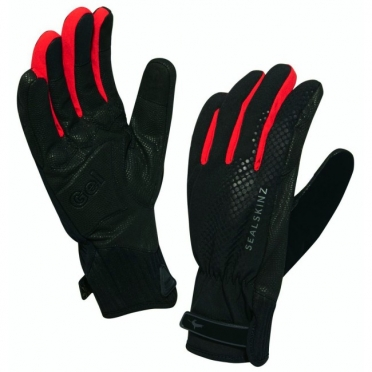 SealSkinz All Weather Cycle XP handschoen zwart rood