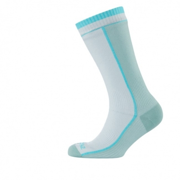 Sealskinz Mid Weight Mid length Sock dames wit/blauw