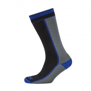 SealSkinz Thick Mid Length Sock zwart grijs