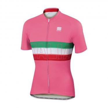 Sportful Italia fietsshirt IT roze heren