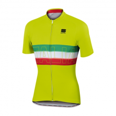 Sportful Italia fietsshirt IT geel heren