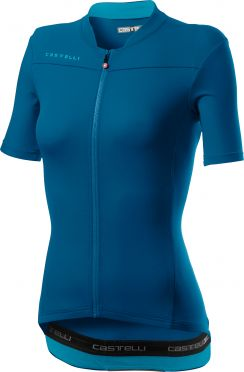 Castelli Anima 3 SS fietsshirt marine blauw dames