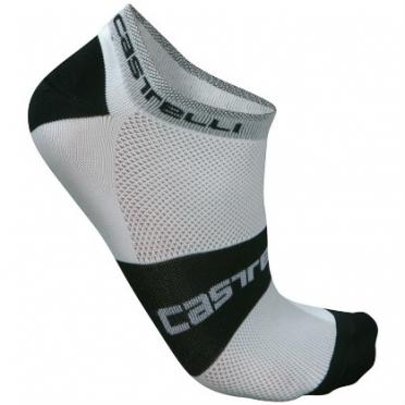 Castelli Lowboy sock wit/zwart heren fietssokken 7069-001 2015