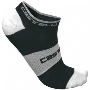 Castelli Lowboy sock zwart/wit heren fietssokken 7069-010 2015