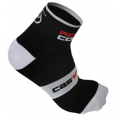 Castelli rosso corsa 6 sock zwart heren 7072-010