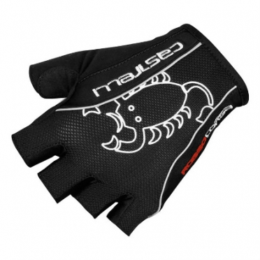 Castelli Rosso corsa classic glove zwart heren 13032-010 2015