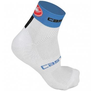 Castelli Free 6 sock wit/blauw heren fietssokken 14033-159 2015