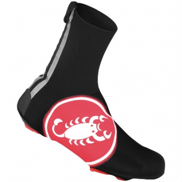 Castelli Diluvio overschoen 16 zwart/rood heren 14538-123