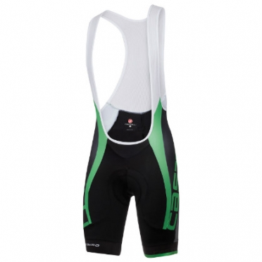 Castelli Velocissimo Due bibshort kit version zwart/groen heren 15008-047 2015