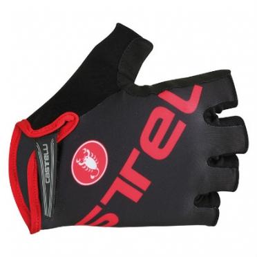 Castelli Tempo V glove zwart/rood heren 15027-231 2015