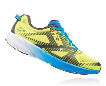 Hoka One One Tracer 2 hardloopschoenen geel/blauw heren