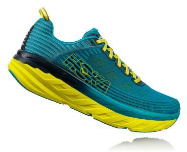 Hoka One One Bondi 6 hardloopschoenen blauw/geel heren