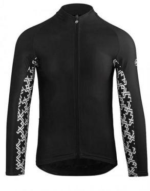 Assos Mille GT spring fall lange mouw fietsshirt zwart heren