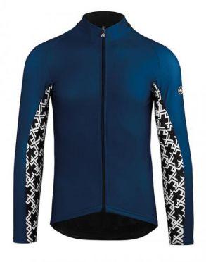 Assos Mille GT spring fall lange mouw fietsshirt blauw heren