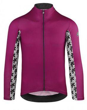 Assos Mille GT summer lange mouw fietsshirt paars heren
