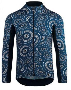 Assos Mille GT summer lange mouw fietsshirt caleum/blauw heren
