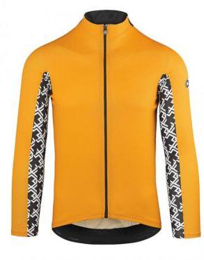 Assos Mille GT summer lange mouw fietsshirt oranje heren