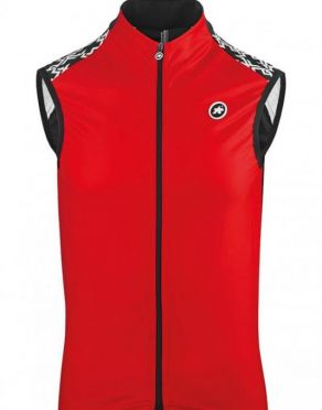 Assos Mille GT spring fall mouwloos vest rood heren