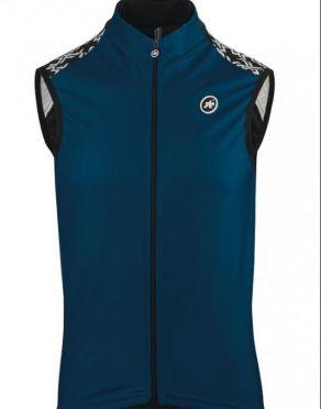Assos Mille GT spring fall mouwloos vest blauw heren