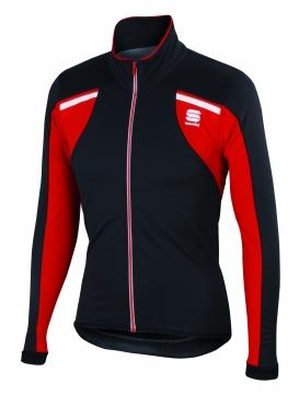 Sportful Alpe 2 softshell fietsjack zwart/rood heren