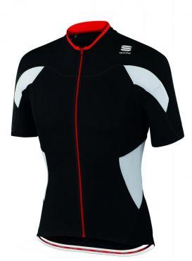 Sportful SF crank fietsshirt korte mouw zwart/wit heren