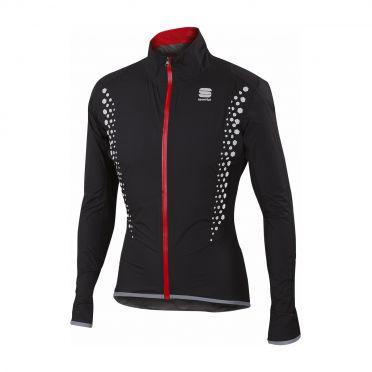 Sportful Hotpack Hi Viz norain lange mouw jacket zwart heren