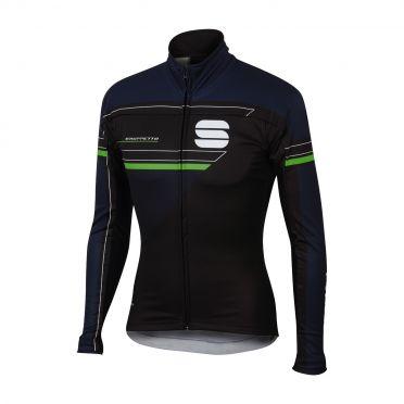 Sportful Gruppetto partial WS fietsjack zwart/blauw heren