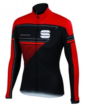 Sportful Gruppetto partial WS fietsjack zwart/rood heren