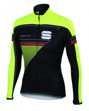 Sportful Gruppetto partial WS fietsjack zwart/geel heren