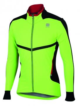 Sportful Pordoi windstopper fietsjack geel fluo heren
