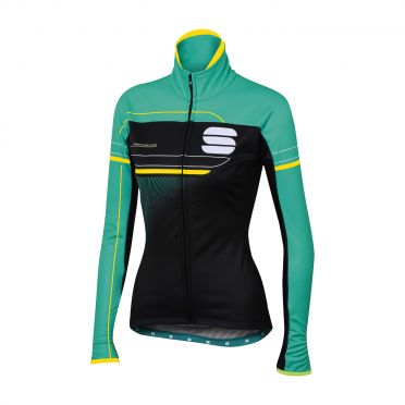 Sportful Grupetto pro W lange mouw jacket zwart/turquoise dames