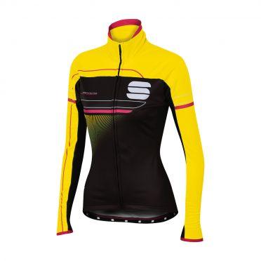 Sportful Grupetto pro W lange mouw jacket zwart/fluo geel dames