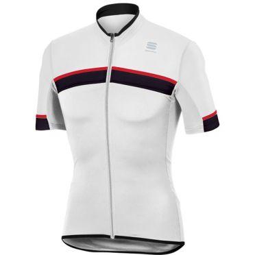 Sportful SF pista fietsshirt korte mouw wit/zwart heren