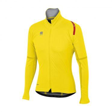 Sportful Fiandre extreme lange mouw jacket fluo geel heren