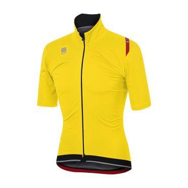 Sportful Fiandre ultimate WS korte mouw jacket fluo geel/zwart heren
