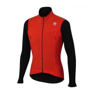 Sportful R&D strato lange mouw jacket rood/zwart heren