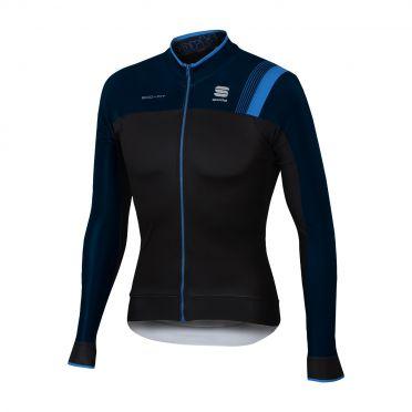 Sportful Bodyfit pro thermal lange mouw fietsshirt zwart/blauw heren
