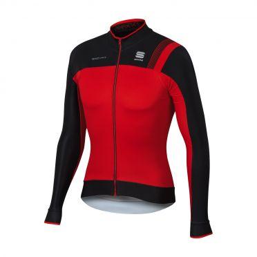 Sportful Bodyfit pro thermal lange mouw fietsshirt rood/zwart heren