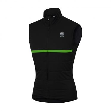 Sportful Giara thermal mouwloos vest zwart/groen heren