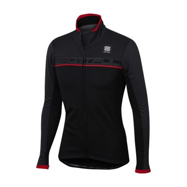 Sportful Giro softshell jacket zwart/rood heren