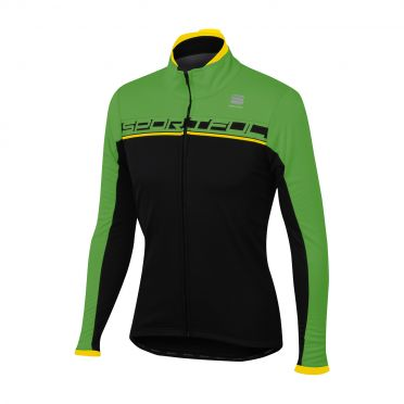 Sportful Giro softshell jacket zwart/groen heren