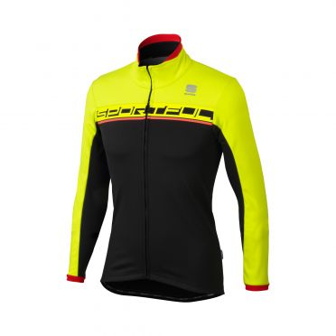 Sportful Giro softshell jacket zwart/geel heren