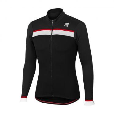 Sportful Pista thermal fietsshirt lange mouw zwart heren