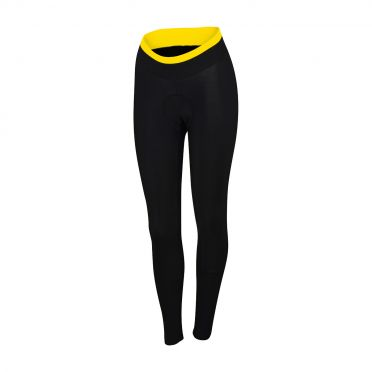 Sportful Luna thermal tight zwart/fluo geel dames