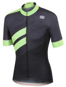Sportful Bodyfit team jersey korte mouw fietsshirt zwart/groen heren