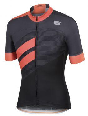 Sportful Bodyfit team jersey korte mouw fietsshirt zwart/oranje heren