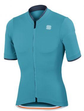 Sportful Infinite jersey korte mouw fietsshirt blauw heren